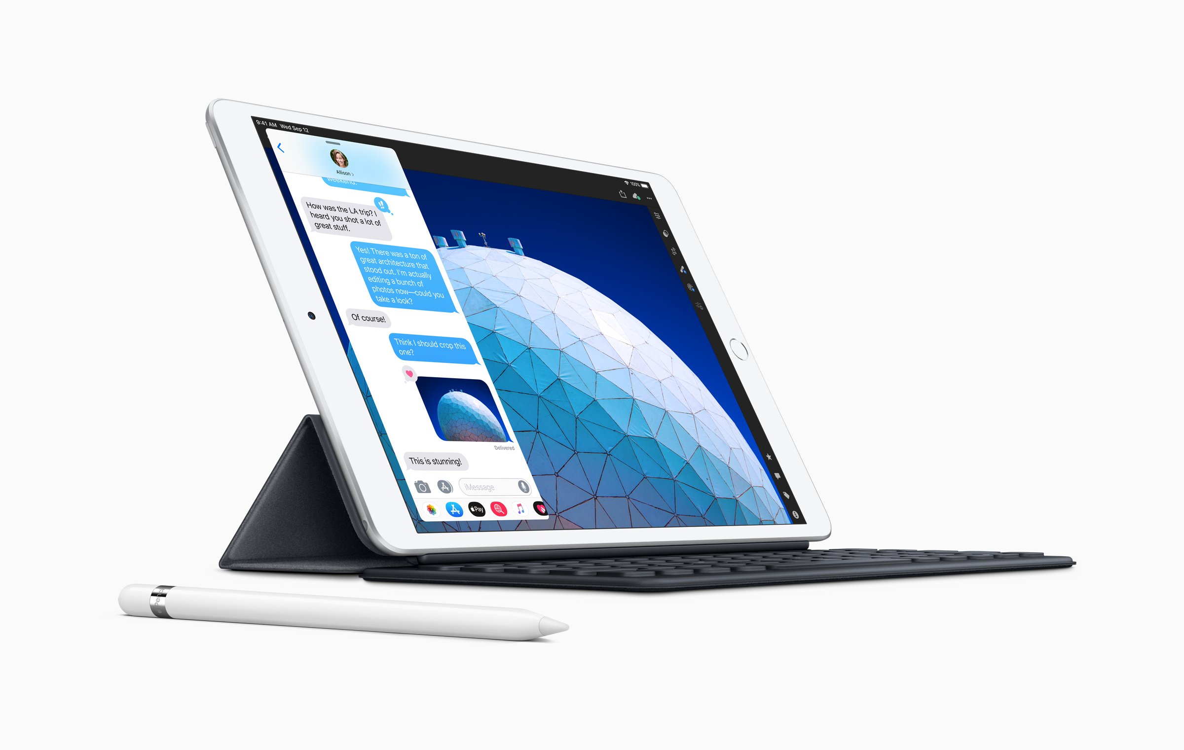 New IPad Air Smart Keyboard With Apple Pencil 03192019