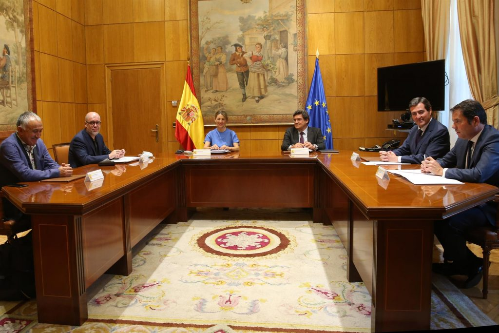 Reunión de Gobierno, sindicatos y empresarios. MINISTERIO DE TRABAJO